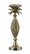Palm Large Candlestick, Aluminium Gold