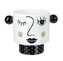 Peggy Planter, Black / White