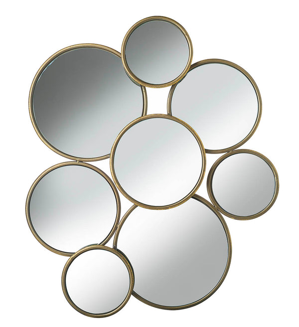 Juno Mirror w/Gold Metal Edging