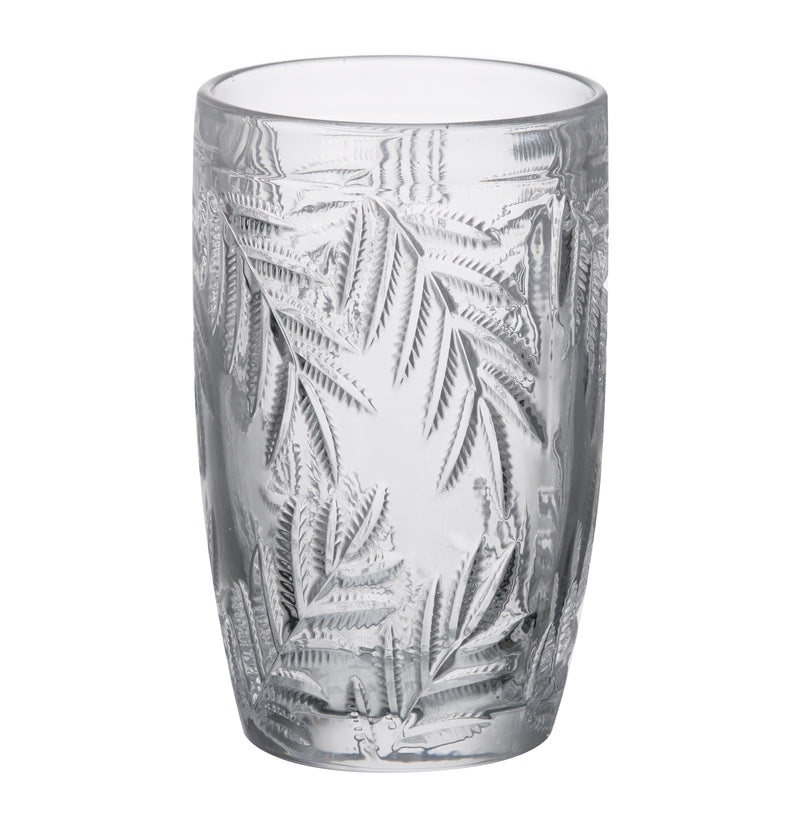 Palm Leaf Hi-Ball Glass, Clear