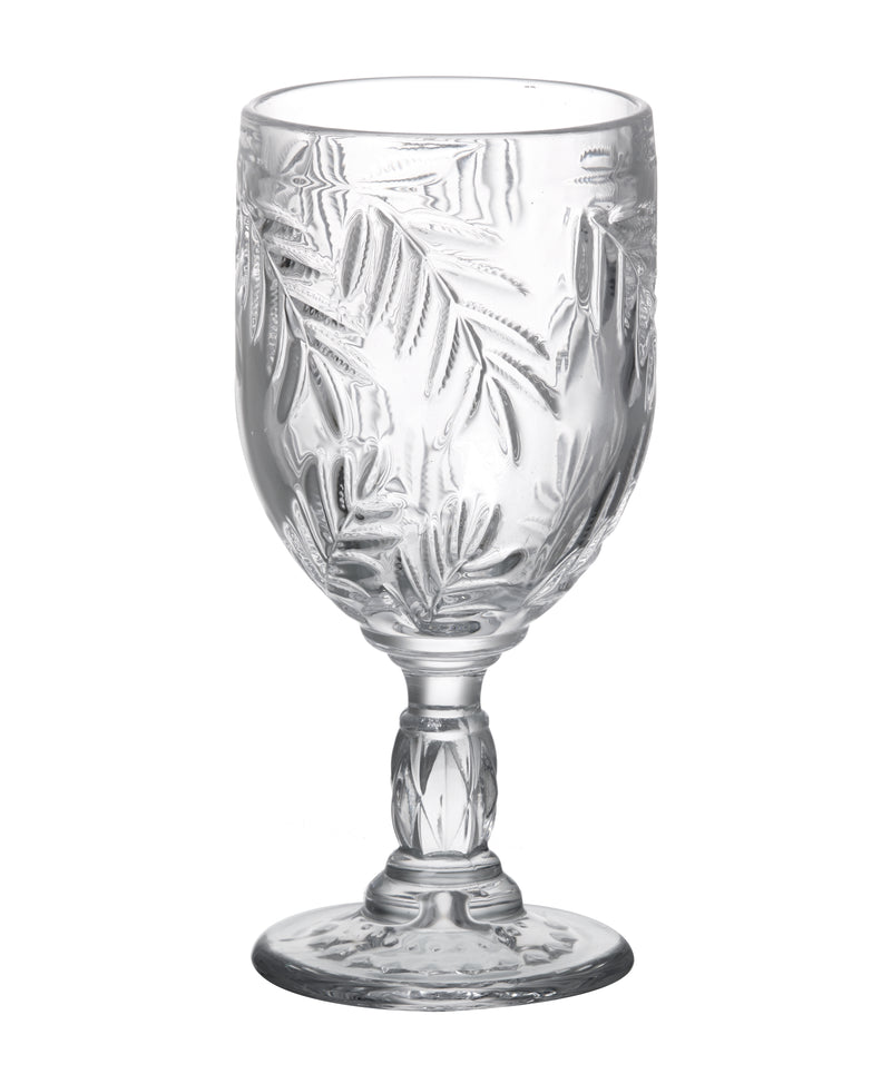 Palm Leaf Wine Goblet, Clear