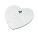 Heart You Small Cutting Board, White Marble