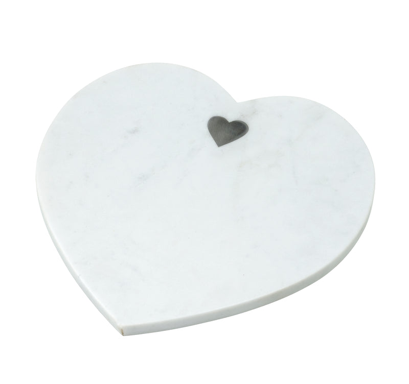 Heart You Large Cutting Board, White Marble