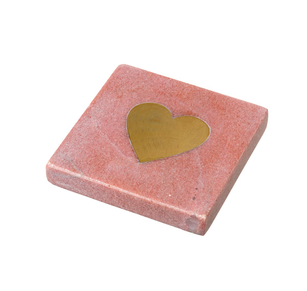 Heart You Coaster, Blush Marble