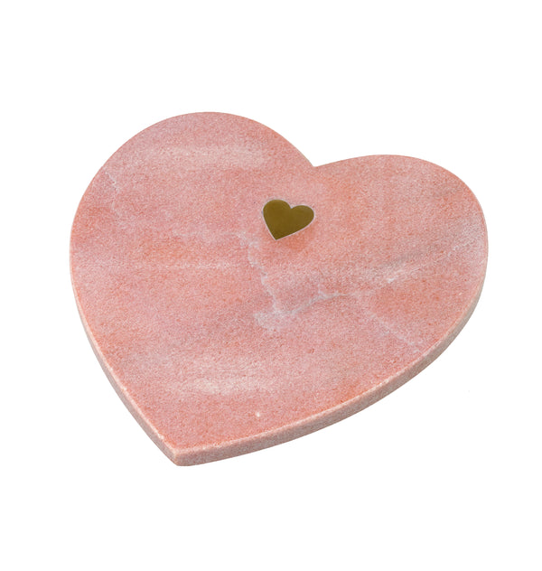 Heart You Small Cutting Board, Blush Marble