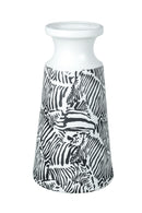 Zebra Large Ceramic Vase, Black / White