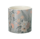Mildred Small Planter, Floral Grey