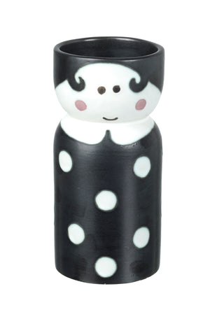Mademoiselle Vase, Black / White Ceramic