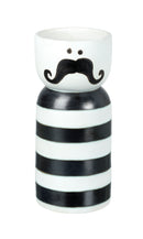 Monsieur Vase, Black / White Ceramic