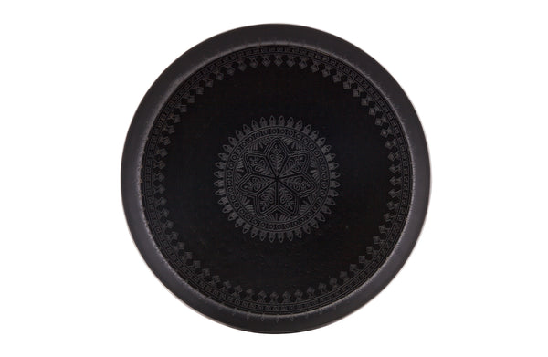 Maggie Metal Tray, Matt Black