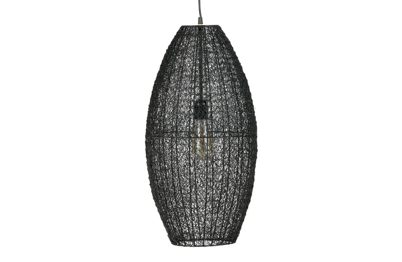Zara Hanging Lamp, Metal Black