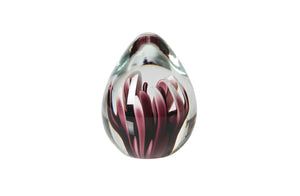 Flora Glass Ornament, Pink