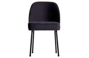 Poppy Dining Chairs, Navy Velvet (Set of 2)