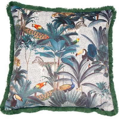 Tropical Square feather filled Cushion