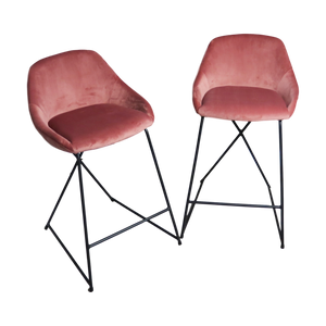 Courtney Bar Stools, Rose Blush, Set of 2