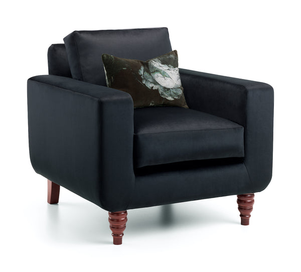 I Got Your Black Velvet Arm Chair | Honora Exclusive