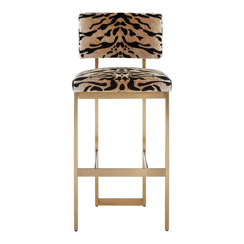 Carrie Bar Stool, Tiger Print