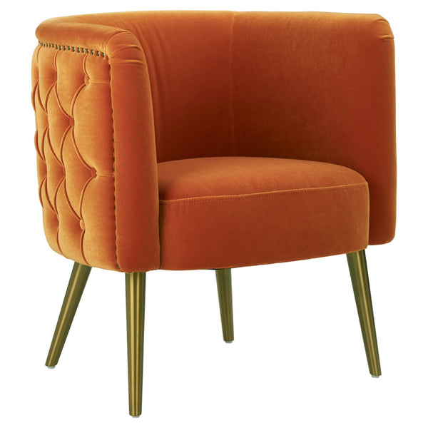 Carrie Tub Chair, Burnt Orange