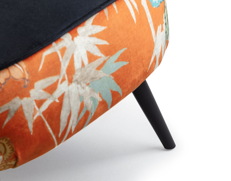Birds of Paradise Velvet Cocktail Chair | Honora Exclusive