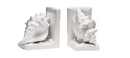 Seashell Bookends, White
