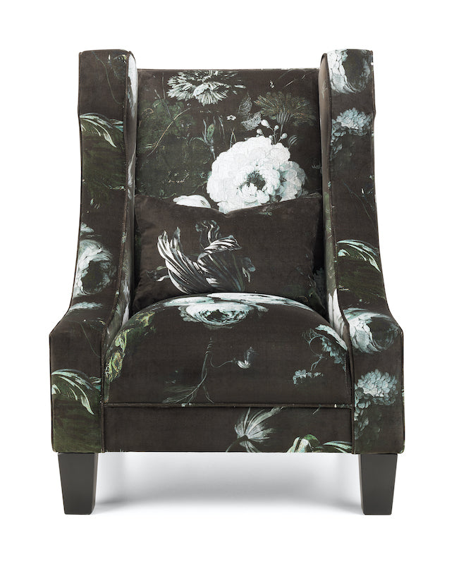 Moonlit Peony Velvet Accent Chair | Honora Exclusive