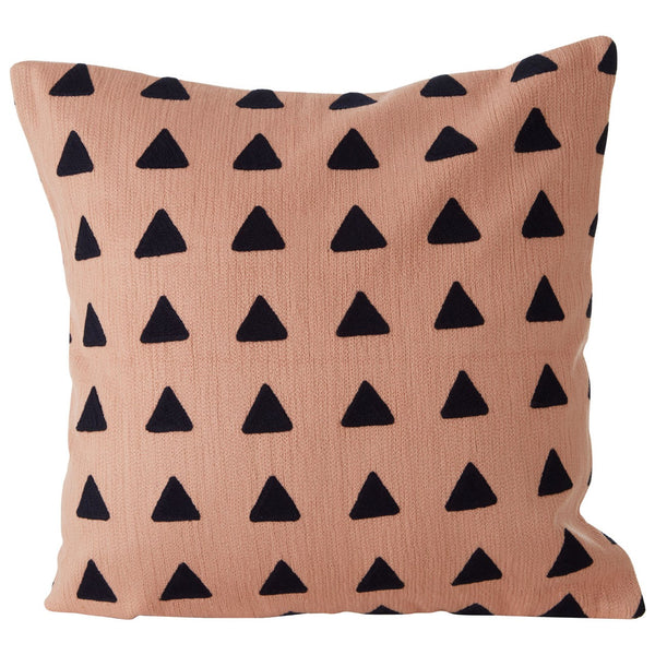 Evie Square Cushion, Pink / Black