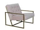 Hilda Modern Accent Chair with Gold Legs, Light Pink / Gold