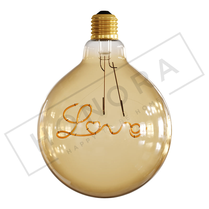 'Love' Light Bulb, Pendant Orientation, LED