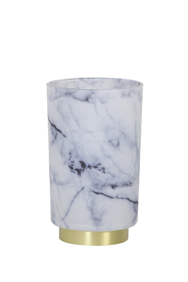 Marble Effect LED Table Lamp, Grey