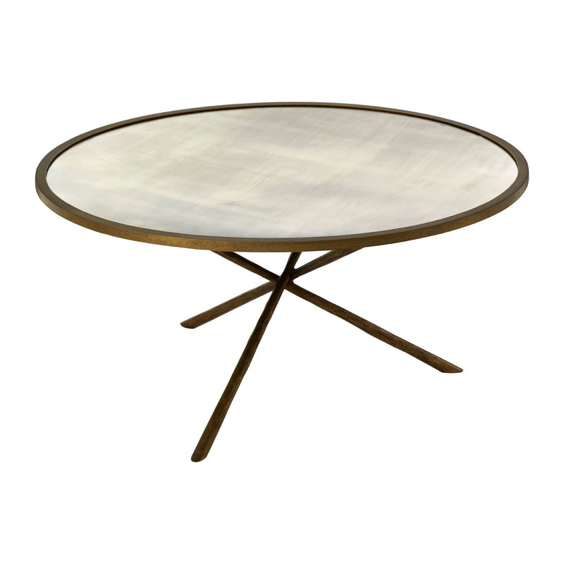 Missy Coffee Table, Glass / Antique Brass Finish