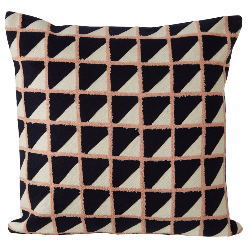 Nina Square Cushion, Pink / Black