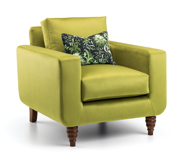 Green with Envy Velvet Arm Chair | Honora Exclusive