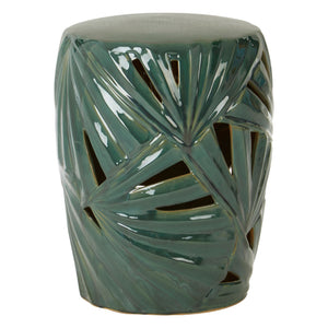 Palm Table, Ceramic Green