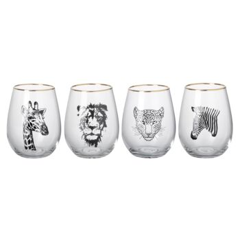 Safari Tumblers, Set of 4