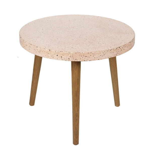 Cara Side Table, Pink Concrete