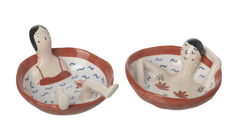 Hot Tub Couple Trinket Dishes