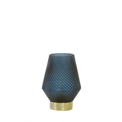 Hazel Small LED Table Lamp, Deep Blue