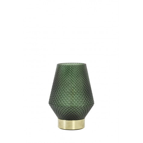 Hazel Small LED Table Lamp, Deep Green