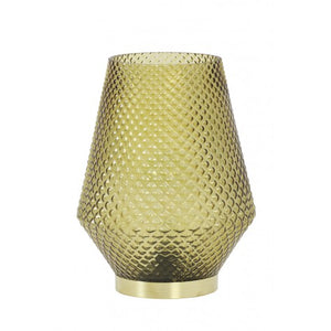 Hazel Large LED Table Lamp, Ochre
