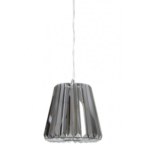 Mia Hanging Ceiling Light, Smoke Grey