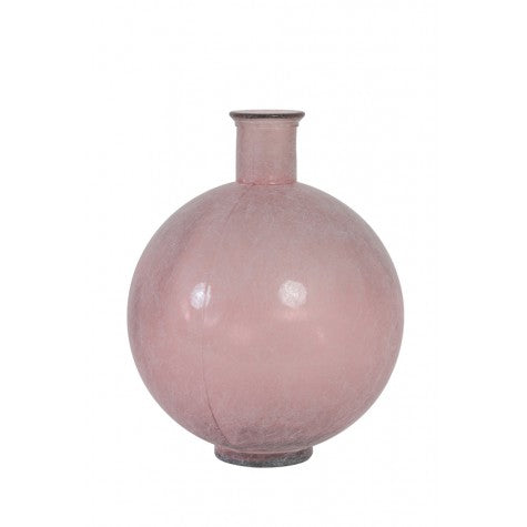 Rosaline Glass Light Vase, Antique Pink