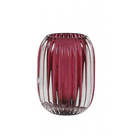 Juliette Tealight Holder, Dark Pink