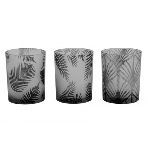 Fern Tealight Candle Holders, Black