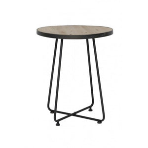 Myla Side Table, Dark Bronze / Wood