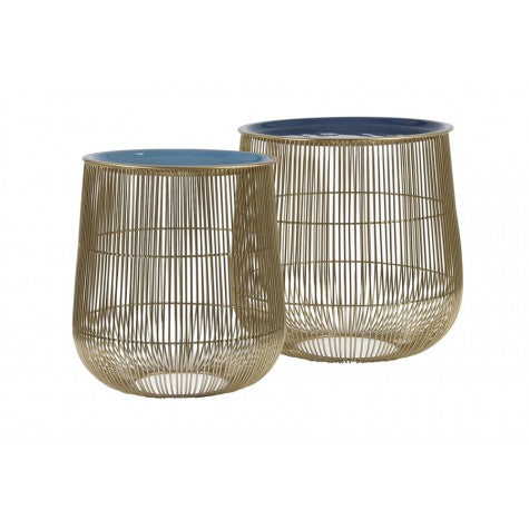 Gabrielle Side Tables Set of 2, Blue