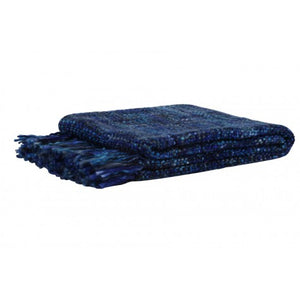 Rhona Throw, Dark Blue