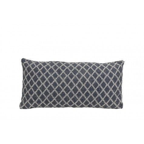 Tess Cushion, Natural / Blue