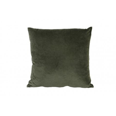 Evangeline Square Velvet Cushion, Army Green