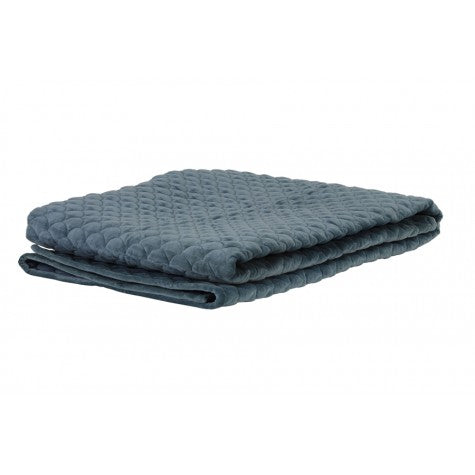 Shelley Blanket, Dusty Blue