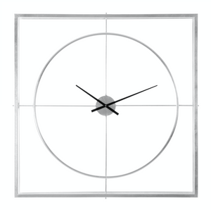 Tilly Wall Clock, Silver